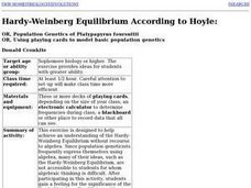 Hardy-Weinberg Equilibrium According to Hoyle: Lesson Plan