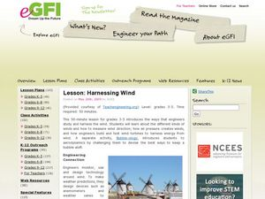 Harnessing Wind Lesson Plan