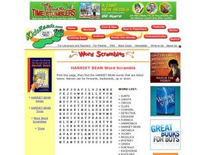 Harriet Bean Word Scramble Lesson Plan