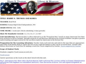 Harry S. Truman And Korea Lesson Plan