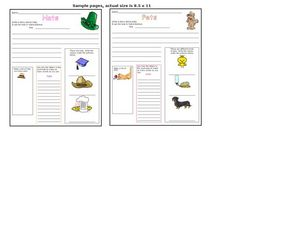 Hats and Pets Worksheet