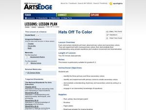 Hats Off to Color Lesson Plan