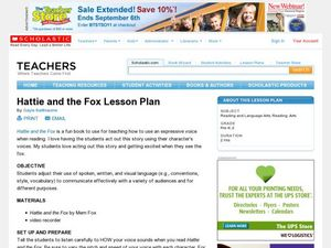 Hattie and the Fox Lesson Plan Lesson Plan