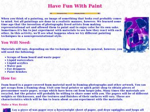 Have Fun With Paint Lesson Plan