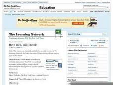 Have Web, Will Travel! Lesson Plan