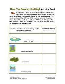 Have You Seen My Duckling? Worksheet