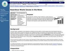 Hazardous Waste Issues in the News Lesson Plan