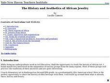 he History and Aesthetics of African Jewelry Lesson Plan