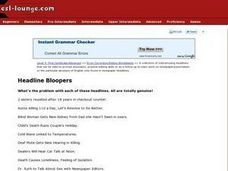Headline Bloopers Worksheet