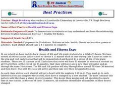 Health and Fitness Expo Lesson Plan