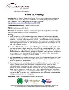Health in Jeopardy Lesson Plan