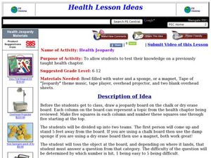 Health Jeopardy Lesson Plan