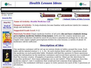 Health Medicine Lab Lesson Plan