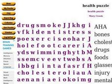 Health Puzzle Worksheet