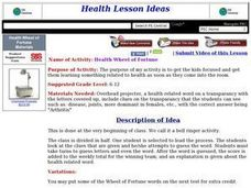 Health Wheel of Fortune Lesson Plan