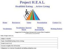 Healthful Eating Active Living Lesson Plan