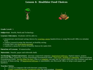 Healthier Food Choices Lesson Plan
