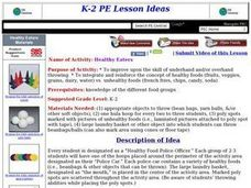 Healthy Eaters Lesson Plan
