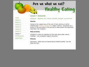 Healthy Eating Lesson Plan