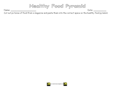 Healthy Food Pyramid Worksheet