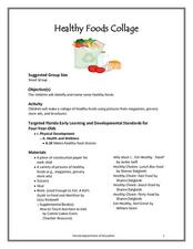 Healthy Foods Collage  Lesson Plan