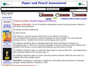 Healthy Happy heart Booklet Lesson Plan
