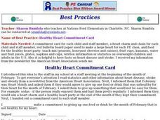 Healthy Heart Commitment Card Lesson Plan