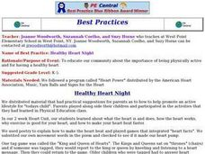Healthy Heart Night Lesson Plan