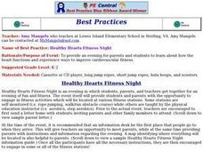 Healthy Hearts Fitness Night Lesson Plan