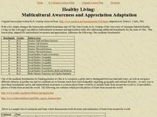 Healthy Living:  Multicultural Awareness and Appreciation Adaptation Lesson Plan