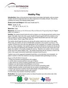 Healthy Play Lesson Plan
