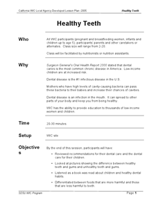 Healthy Teeth Lesson Plan