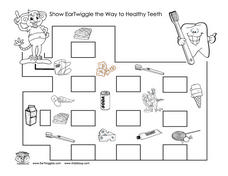 Healthy Teeth Maze Worksheet