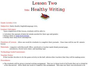 Healthy Writing: Keeping Food Journals Lesson Plan