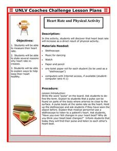 Heart Rate and Physical Activity Lesson Plan