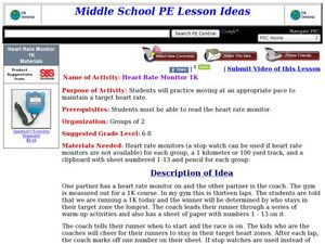 Heart Rate Monitor 1K Lesson Plan