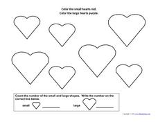 Heart Shapes Worksheet