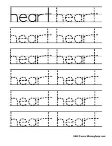 Heart Tracing Practice Worksheet