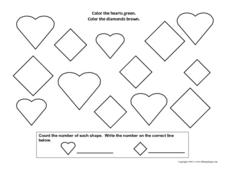 Hearts and Diamonds Worksheet