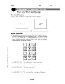 Heat and Heat Technology Worksheet