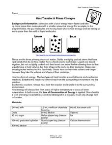 Heat Transfer & Phase Changes Lesson Plan