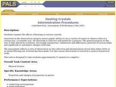 Heating Crystals Lesson Plan