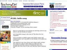 Hello Song Lesson Plan