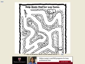 Help Annie Find Her Way Home Worksheet