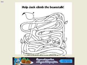 Help Jack Climb the Beanstalk Worksheet