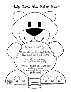Help Save the Polar Bear Worksheet