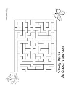Help the Butterfly To the Flower Lesson Plan