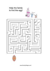 Help the Family To Find the Egg Worksheet