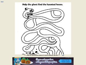 Help the Ghost Find the Haunted House Worksheet