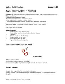 Helpfulness   /   First Aid Lesson Plan